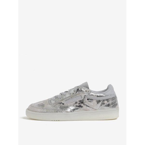 Pantofi sport argintii din piele pentru femei Reebok