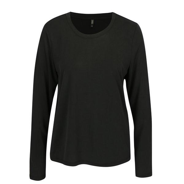Bluza lejera neagra cu decolteu rotund - ONLY Venus