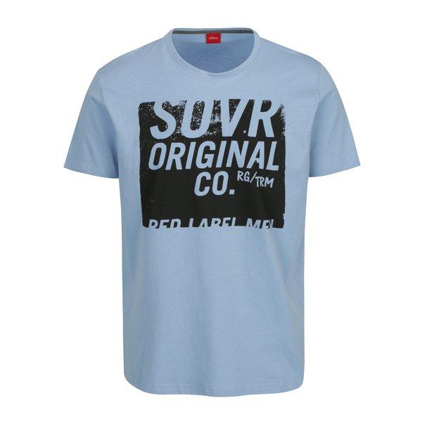 Tricou bleu cu print pentru barbati - s.Oliver