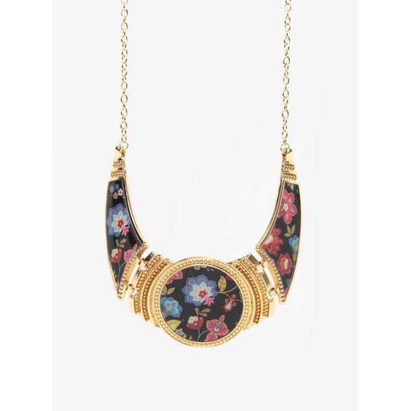 Colier auriu cu model floral - Desigual