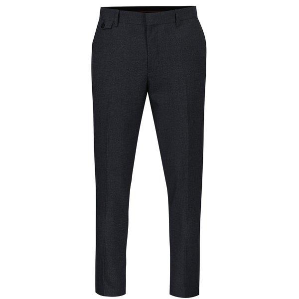 Pantaloni de costum albastri skinny cu model delicat - Burton Menswear London