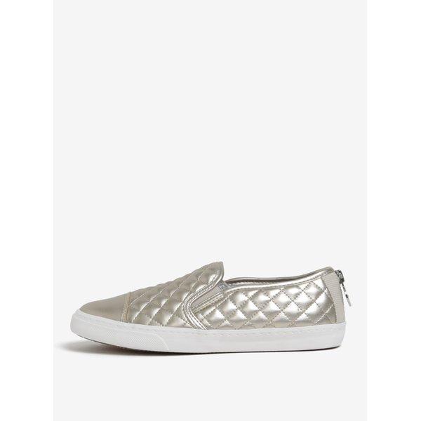 Pantofi slip on aurii cu cusaturi decorative Geox Giyo