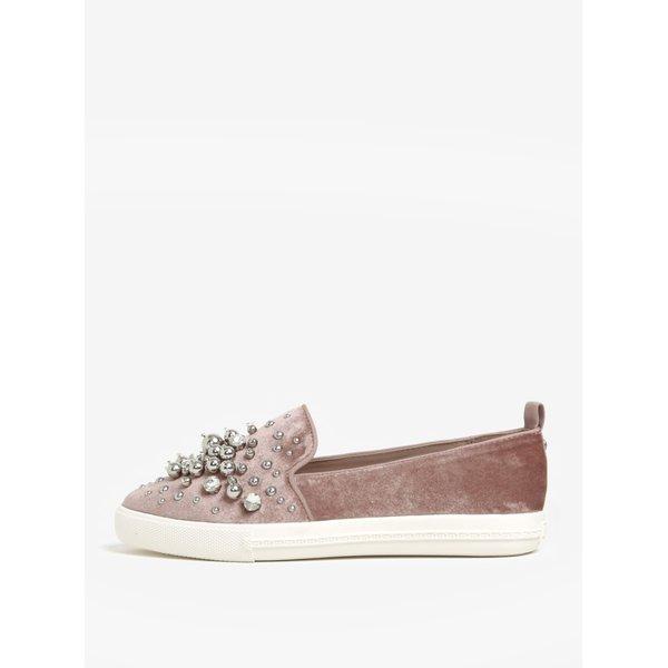 Pantofi slip on roz prafuit cu detalii decorative - Miss KG Lareina