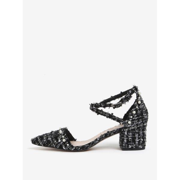 Pantofi negri cu varf ascutit si toc stabil - Miss KG Ava
