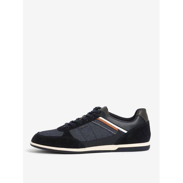 Pantofi sport albastri cu piele intoarsa pentru barbati Geox Renan