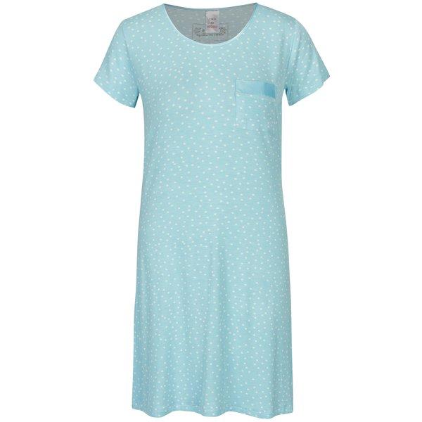 Camasa bleu de noapte cu buzunar si buline - M&Co