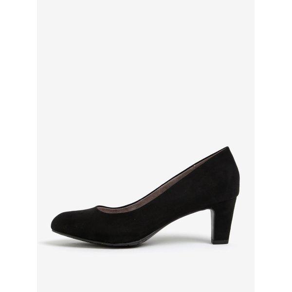 Pantofi negri cu toc mediu si varf rotund - Tamaris