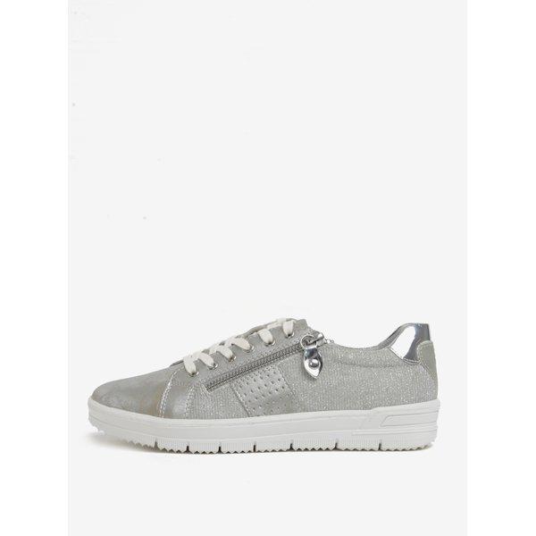 Pantofi sport argintii cu fermoar decorativ Tamaris