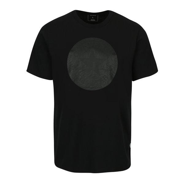 Tricou negru din bumbac cu logo pentru barbati - Converse Topo Chuckpatch