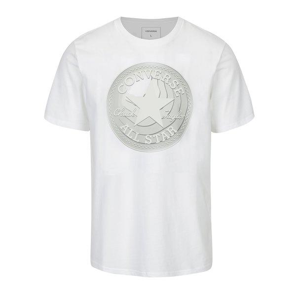 Tricou alb cu print pentru barbati - Converse Dimensional Layer Chuckpatch