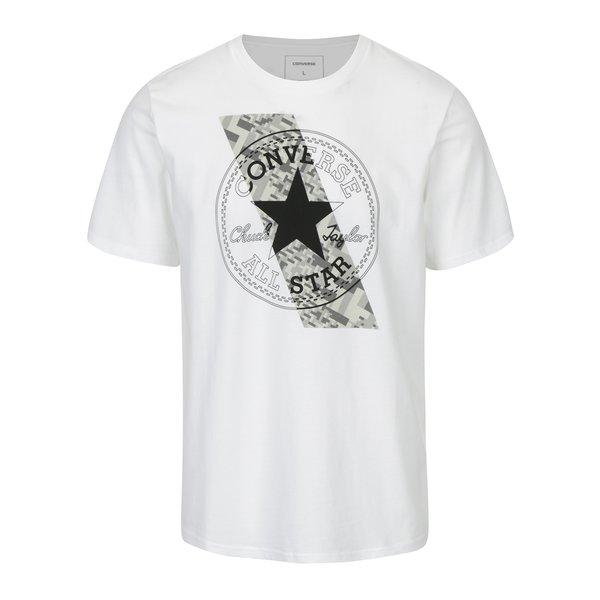 Tricou alb din bumbac cu print pentru barbati - Converse Chuckpatch
