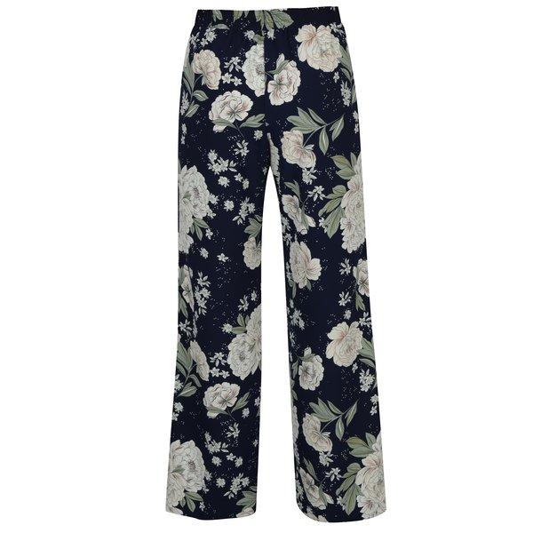 Pantaloni evazati bleumarin cu print floral Dorothy Perkins