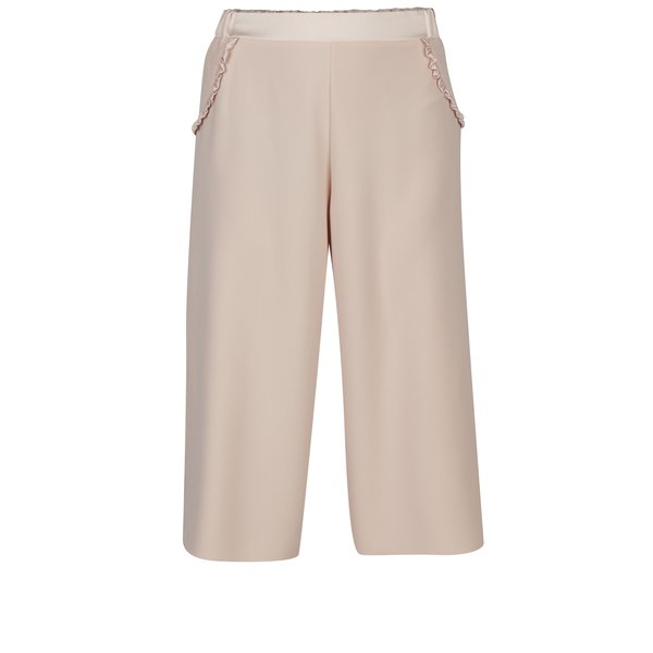 Pantaloni culottes roz cu detalii la buzunare - Dorothy Perkins Petite