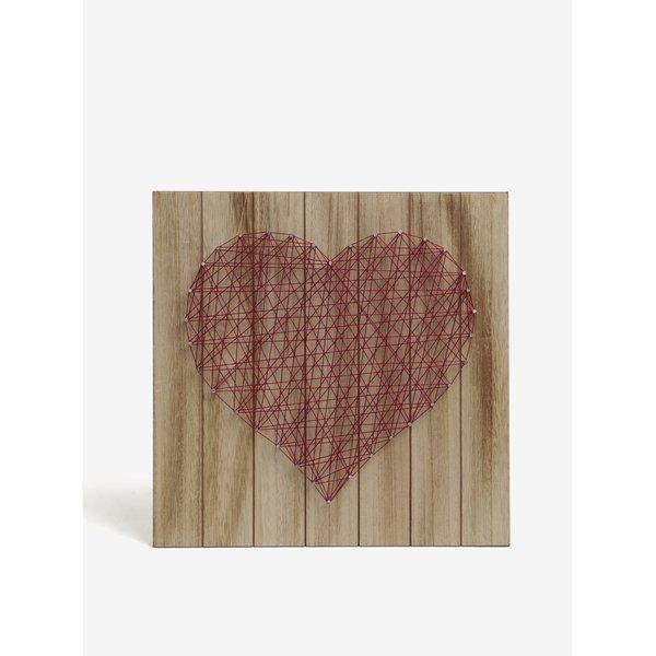 Decoratiune din lemn tip tintar in forma de inima SIFCON