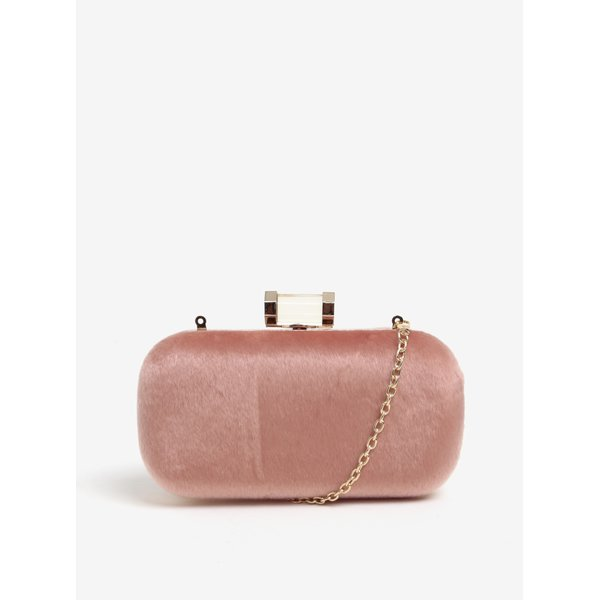 Geanta plic roz pal cu blana artificiala - MISSGUIDED