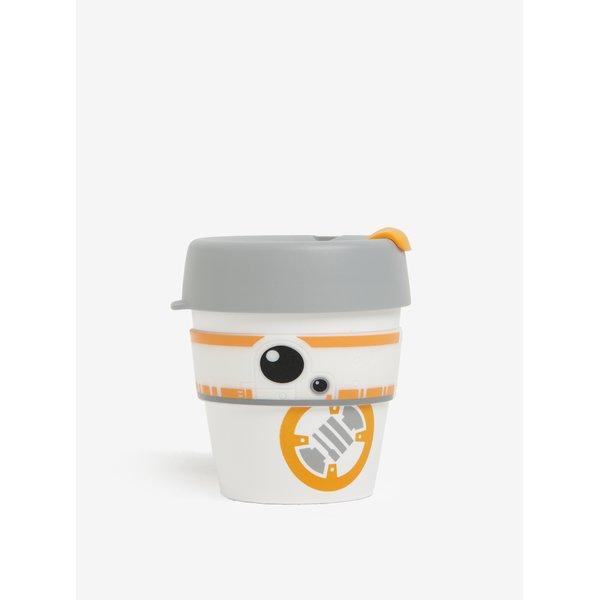 Cană de călătorie alb&portocaliu cu tematică Star Wars KeepCup BB8 Original Small