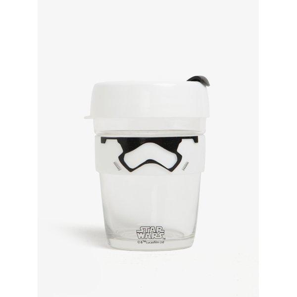 Cană transparentă de călătorie cu tematica Star Wars KeepCup Stormtrooper Brew Medium
