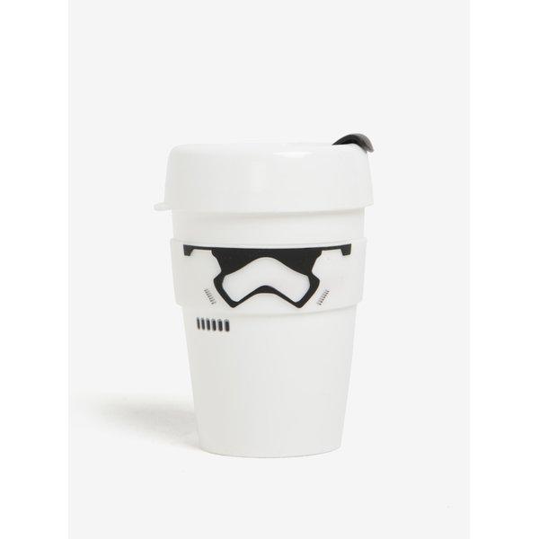 Cană albă de călătorie cu tematică Star Wars KeepCup Stormtrooper Original Medium
