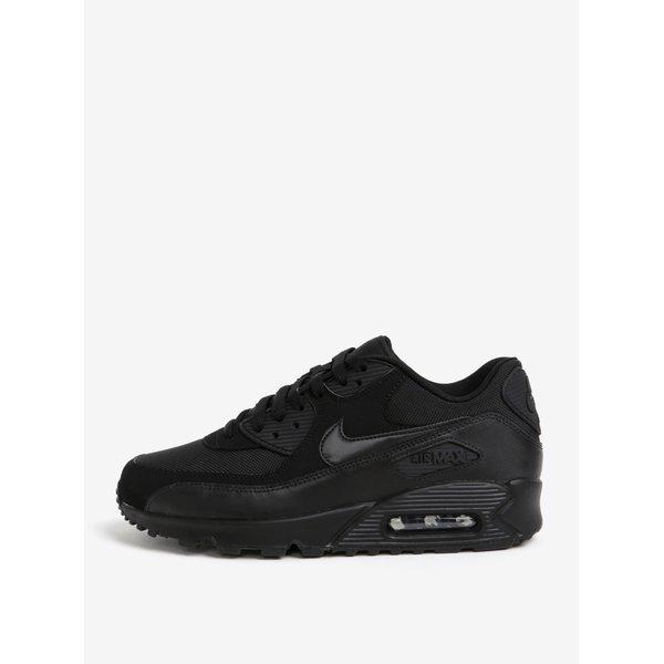 Pantofi sport negri din piele intoarsa pentru barbati Nike Air Max 90 Essential