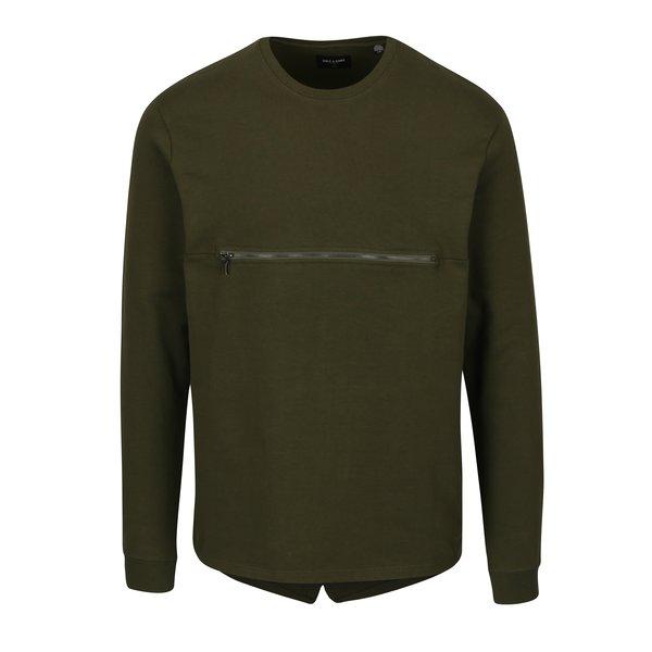 Bluza verde inchis cu fermoar frontal - ONLY & SONS Mathias