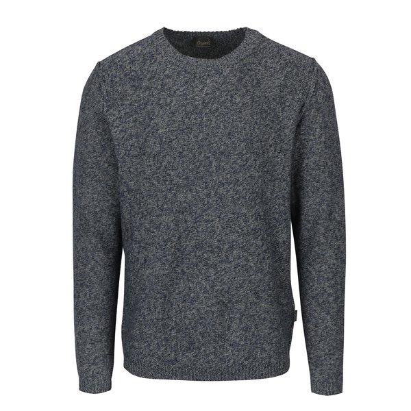 Pulover tricotat albastru melanj - Jack & Jones Originals Uber