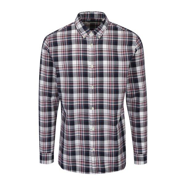 Camasa slim fit crem & bordo in carouri – Jack & Jones Premium Lawrence