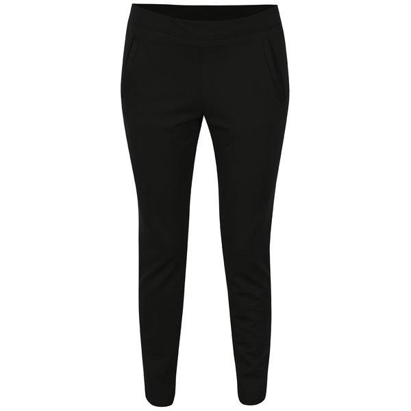 Pantaloni negri cu buzunare si talie elastica - Jacqueline de Yong Atomic