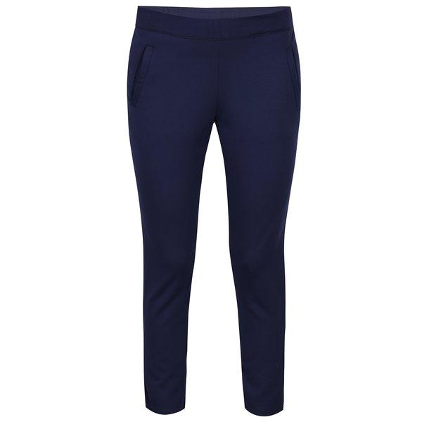 Pantaloni bleumarin cu buzunare si talie elastica- Jacqueline de Yong Atomic