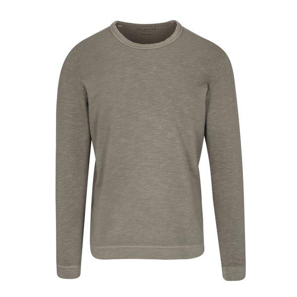 Bluza basic gri - kaki - Selected Homme Ben