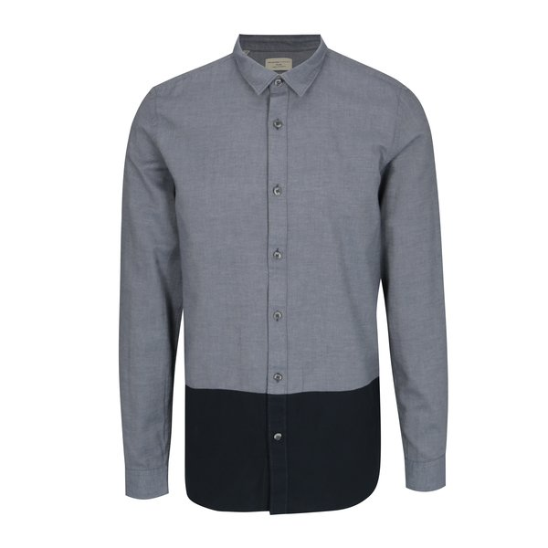 Camasa regular gri albastrui & bleumarin - Selected Homme Two Todd