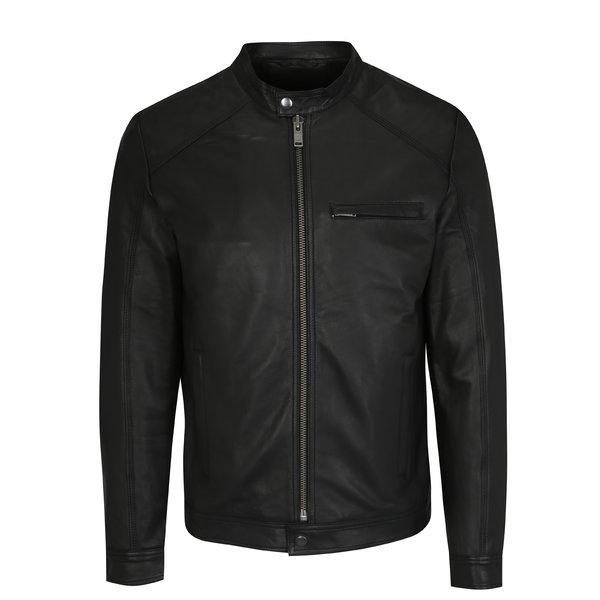 Jacheta neagra din piele - Selected Homme Tylor