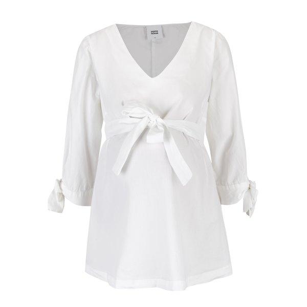 Imagine indisponibila pentru Bluza alba cu maneci 3/4 pentru femei insarcinate - Mama.licious Krista