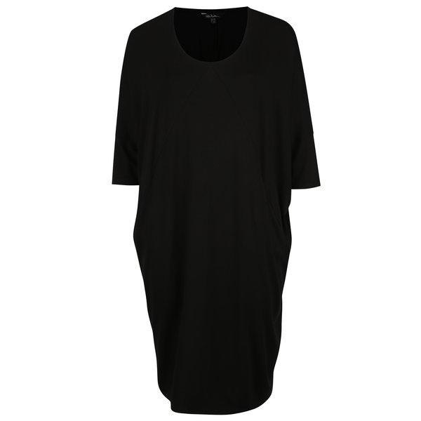 Camasa de noapte neagra cu maneci liliac - Ulla Popken