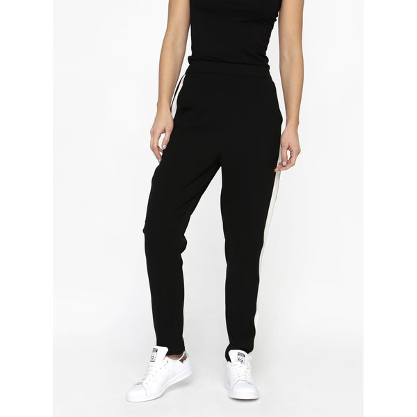 Pantaloni negri cu dunga contrastanta laterala - MISSGUIDED