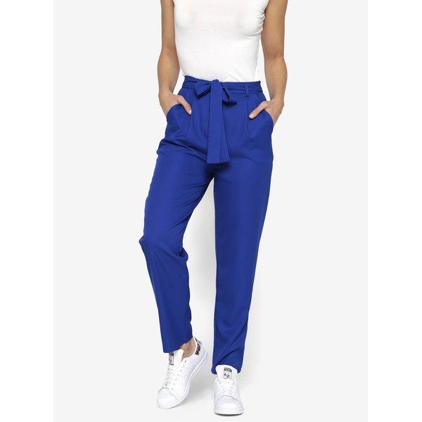 Pantaloni conici albastri cu funda in talie - MISSGUIDED