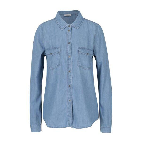 Camasa albastra din denim cu buzunare Noisy May Kendall