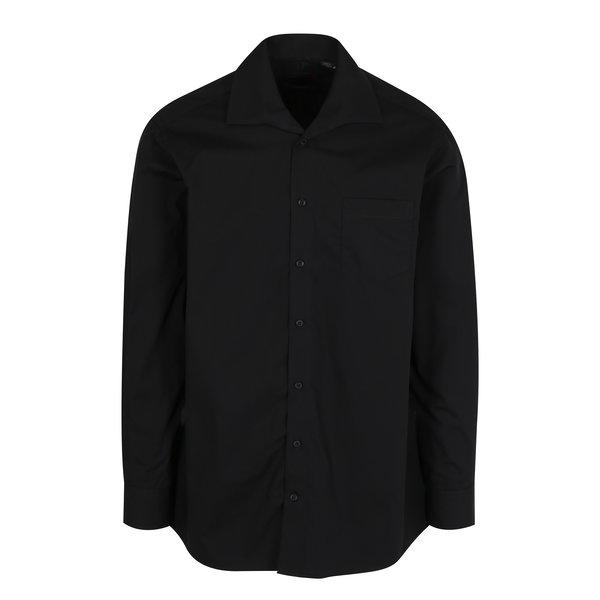 Camasa comfort fit neagra cu buzunar JP 1880