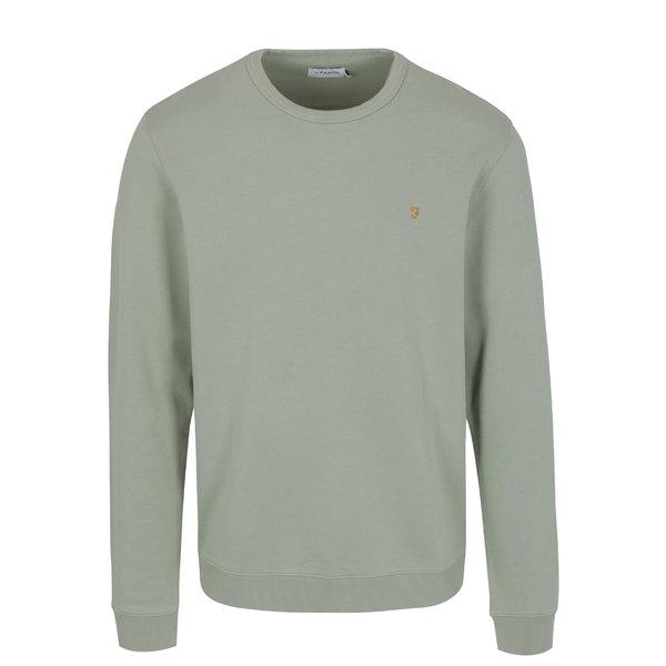 Bluza verde deschis cu logo brodat - Farah Pickwell