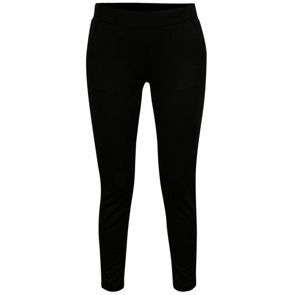 Pantaloni elastici negri cu buzunare - Jacqueline de Yong Alfa