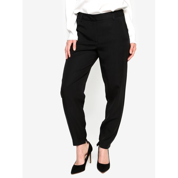 Pantaloni negri cu talie medie Selected Femme Amila Zoe