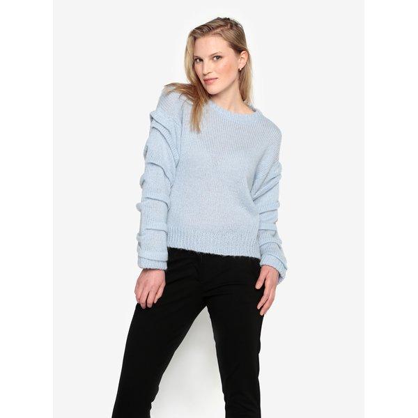Pulover albastru deschis cu adaos de lana alpaca - Selected Femme Olivia