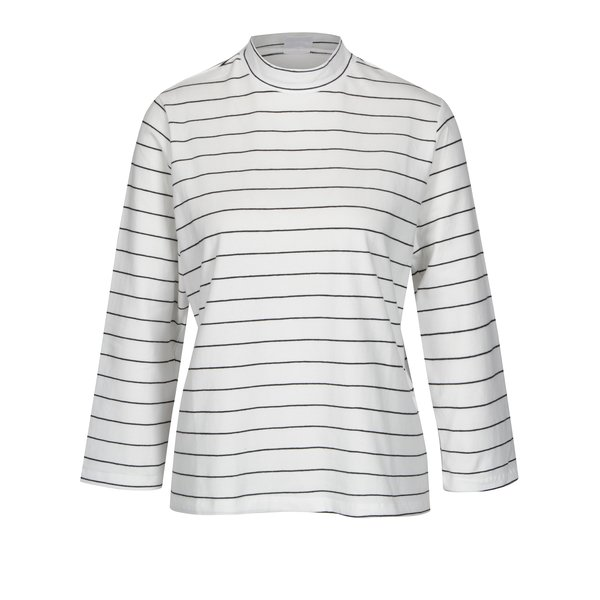 Bluza alba in dungi cu guler Jacqueline de Yong Gana