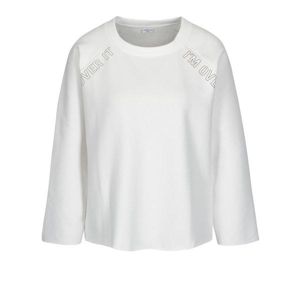 Bluza crop crem cu print text Jacqueline de Yong Tori