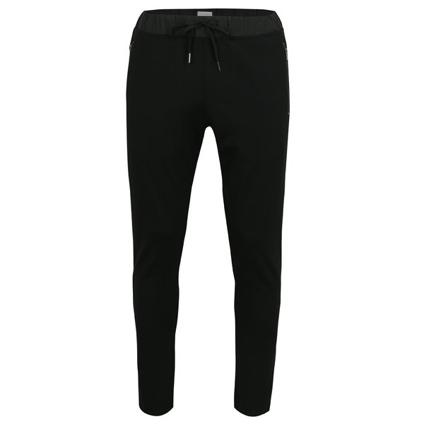 Pantaloni sport negri cu snur in talie - Lindbergh