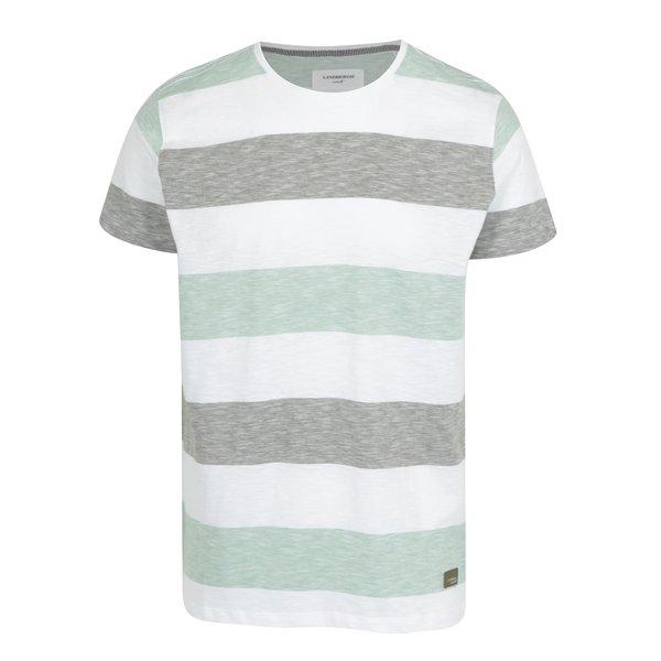 Tricou cu dungi verde deschis & alb – Lindbergh