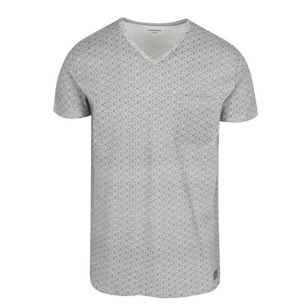 Tricou cu print geometric alb & negru - Lindbergh