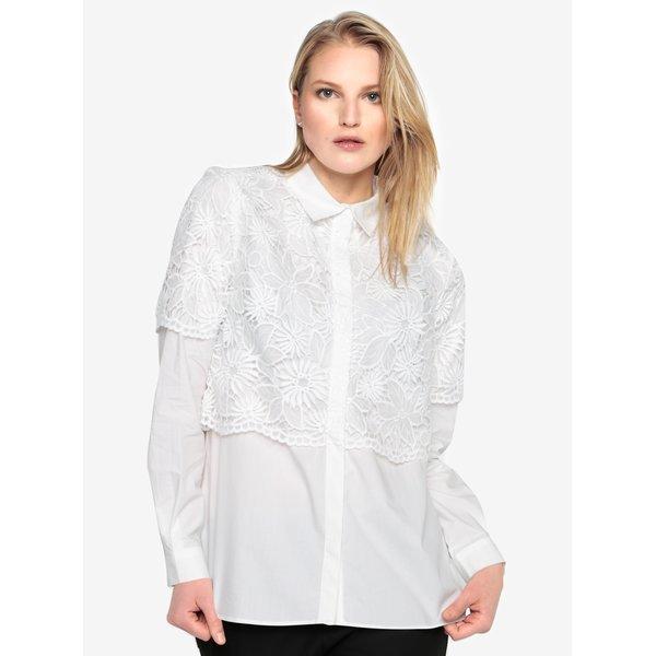Camasa alba cu bluza brodata - French Connection Southside