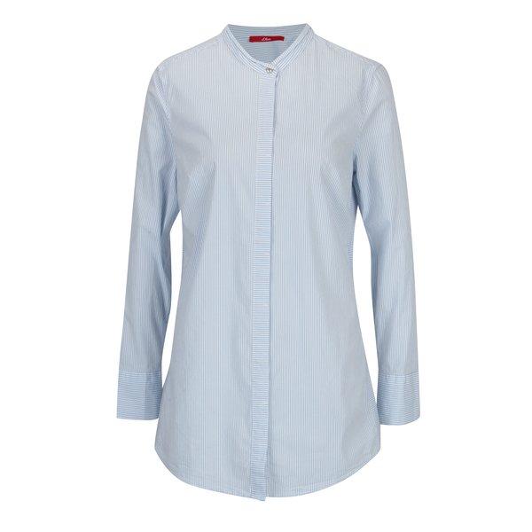 Camasa alba in dungi cu guler tunica pentru femei s.Oliver
