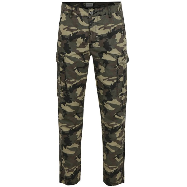 Pantaloni cargo cu print camuflaj Shine Original