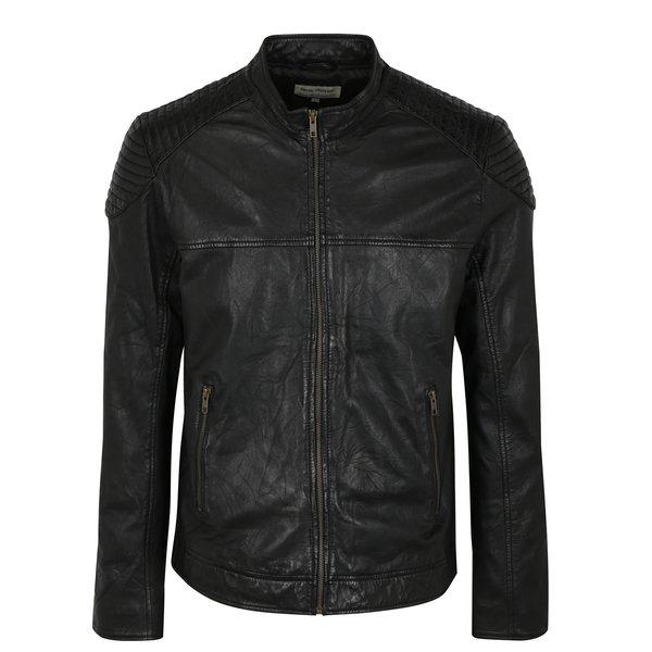 Jacheta neagra din piele Shine Original